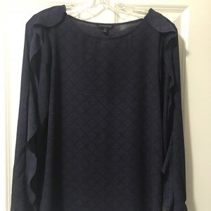 Banana Republic Ruffle Sleeve Detail Blouse - XS